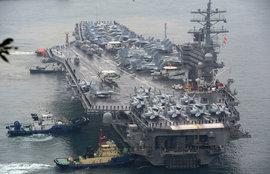 военные учения, Южная Корея, авианосец Рональд Рейган
