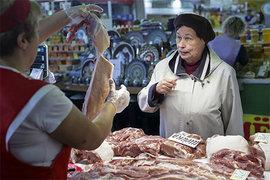 рынок, мясо, продукты