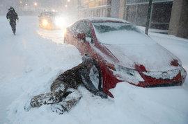 Нью-Йорк, снежная буря