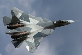 Перспективный авиационный комплекс фронтовой авиации ПАК ФА Т-50, истребитель, самолет