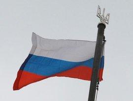 Над Киевом взвились российские флаги